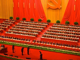 Leaders of the Communist Party of China at the start of the 18th National Congress of the Communist Party of China at the Great Hall of the People in Beijing, China | Image: Remko Tanis/CC BY-NC-ND