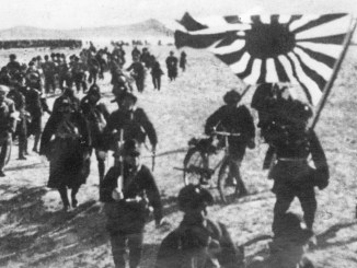 The Japanese army presses forward in the Pacific theater during World War II I Image: Keystone/Getty Images