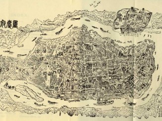 An ancient Chinese map of the city of Chongqing in Southwest China I Images: gutenberg.net.au