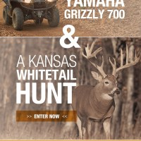 Yamaha Outdoors Partners with Powderhook.com and NWTF to Giveaway  New Grizzly 700 EPS 4x4 ATV and Kansas Whitetail Hunt