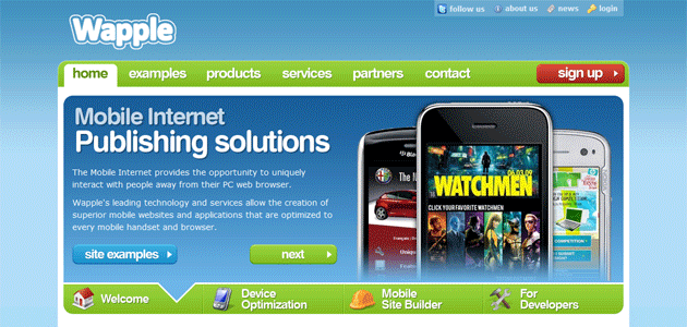 Wapple.net Front Page