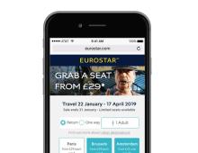 Eurostar – Landing page delivering +22% CVR in A/B test