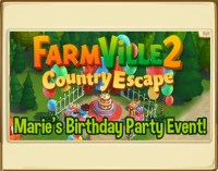 FarmVille 2: Marie's Birthday Party Event! C.E.