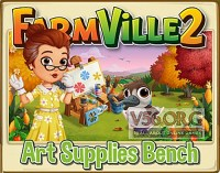 Farmville 2: Art Supplies Bench Preview