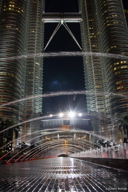 Fountains in front of Petronas Towers