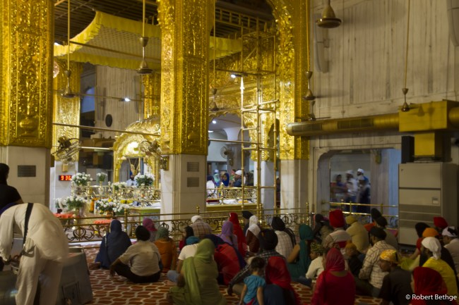 people praying at Sikh ceremony