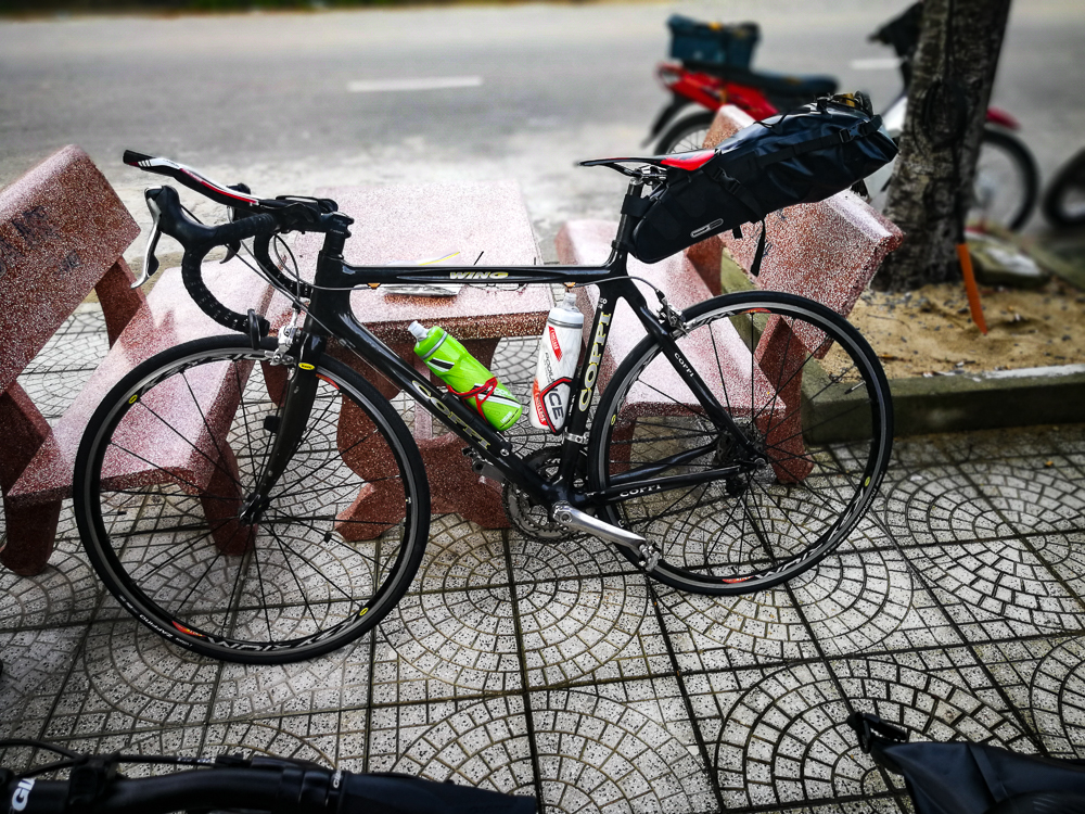my road bike with bag