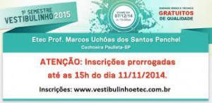 Inscrição Vestibulinho ETEC 2015 – Prorrogadas