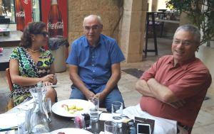 With Elena Bashkirova and Uri Dromi, Director General, Jerusalem Press Club