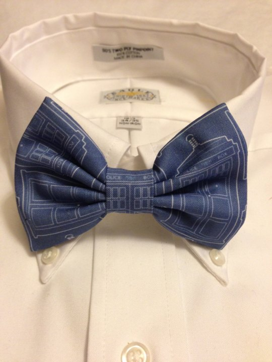 Vamers Store - South Africa - Merchandise - Accessories - Bowtie - Doctor Who Inspired TARDIS Blueprint Bowtie 01