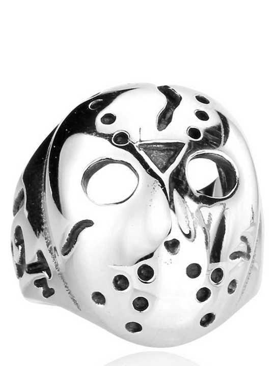 Vamers Store - Jewellery - Friday the 13th - Stainless Steel Jason Voorhees Ring - Hockey Mask - 01