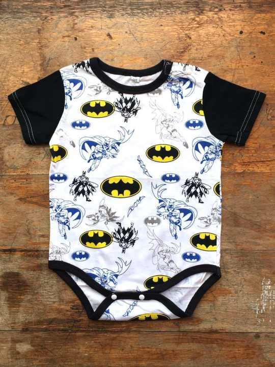 Vamers Store - Apparel - Baby Clothing - Batman Print Baby Grow Romper - Front