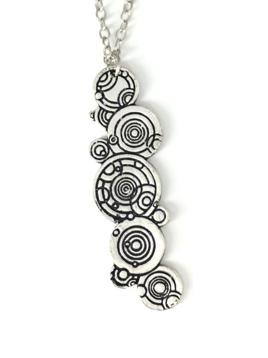 Vamers Store - Jewellery -  Gallifreyan pendant and necklace inspired by Doctor Who- Vintage - Metal - 04
