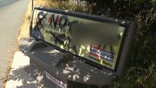 bus benches vandalism nanaimo