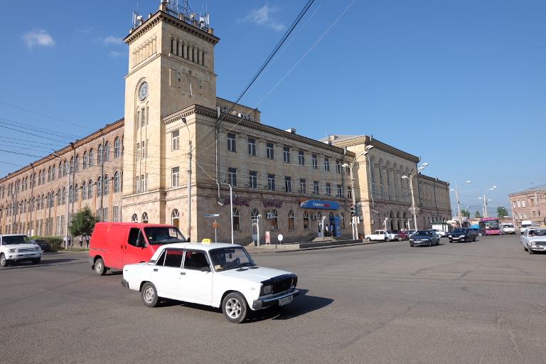 Het nieuwe centrum van Gyumri