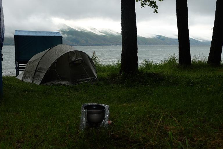 Kampeerplek bij Lake Sevan