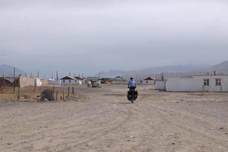 Alichur, één van de vier plaatsen langs de Pamir Highway