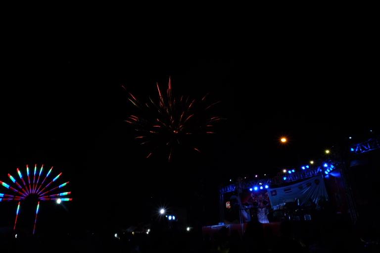 Vuurwerk in Battambang (op 5 januari)