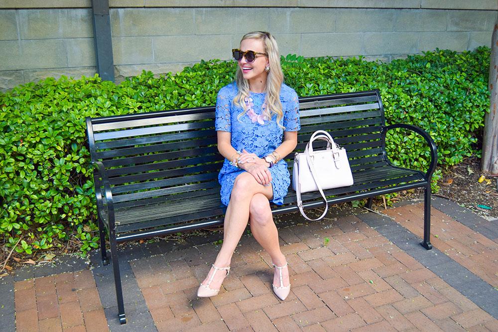 BLUE LACE SHIFT DRESS   Vandi Fair