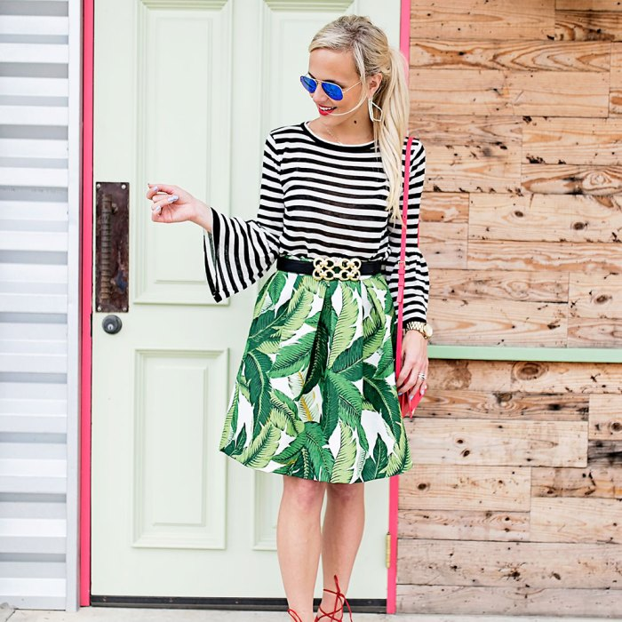 palm-skirt-striped-top-outfit-1