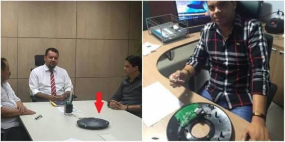 Um aparelho semelhante ao classificado como de escuta por Luciano estava em cima da mesa do secretário