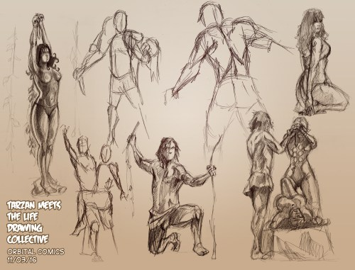 Tarzan Life Drawing Orbital comics