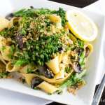 Pappardelle with Broccolini and Crunchy Gremolata | Vanilla And Bean