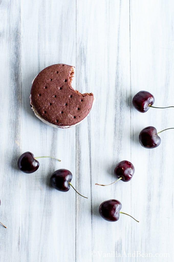 Chocolate Ice Cream Sandwich Cookies - Vanilla And Bean