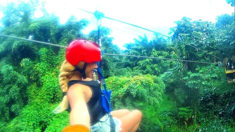 Zip Lining Through The Jungles Of Punta Cana, Dominican Republic
