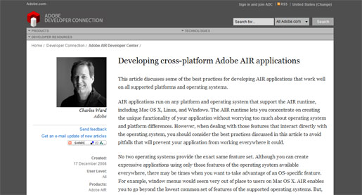 Developing Cross-Platform Adobe AIR Applications