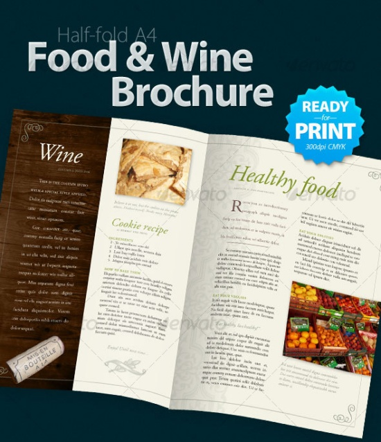35 quality brochure templates vandelay design for Wine brochure template free