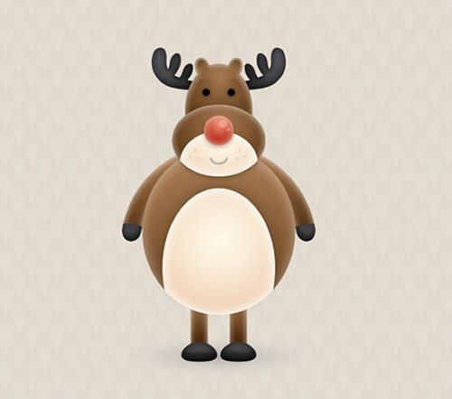 Create a Cute Vector Reindeer Character in Illustrator