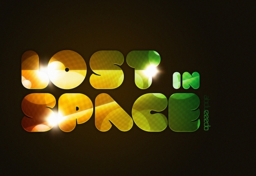 Lost in Space Typography in Photoshop