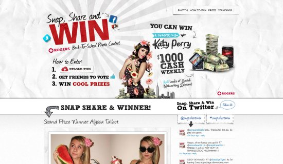 Snap, Share and Win