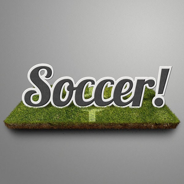 Create a Soccer Themed Text Effect in Photoshop