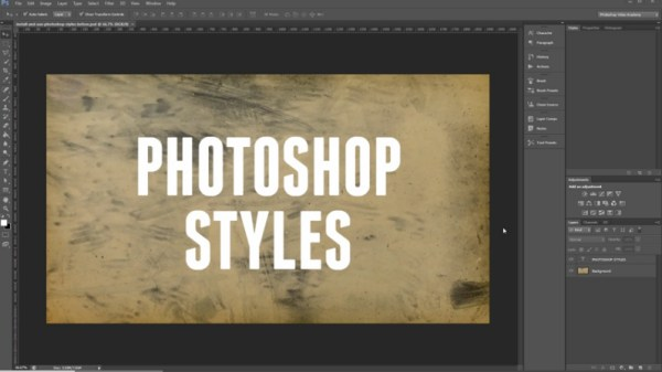 How to Install and Use Photoshop Styles (video)
