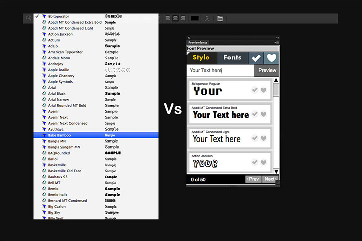 Preview Fonts