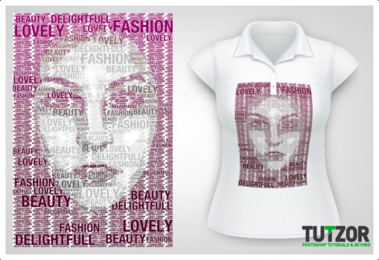 Design Your Own T-Shirt with a Typography Portrait