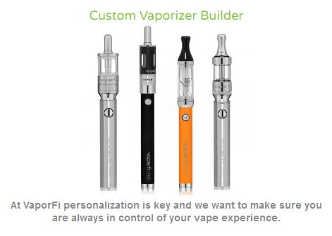 Vaporfi Custom Vaporizer Builder