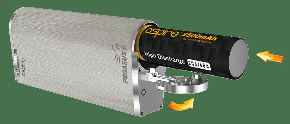 Aspire Pegasus Battery Slot
