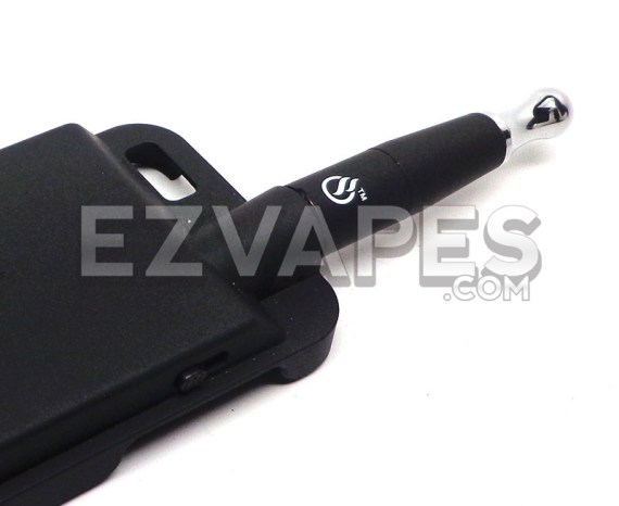 The VapeCase iPhone vape with eDab stealth cartridge attached.