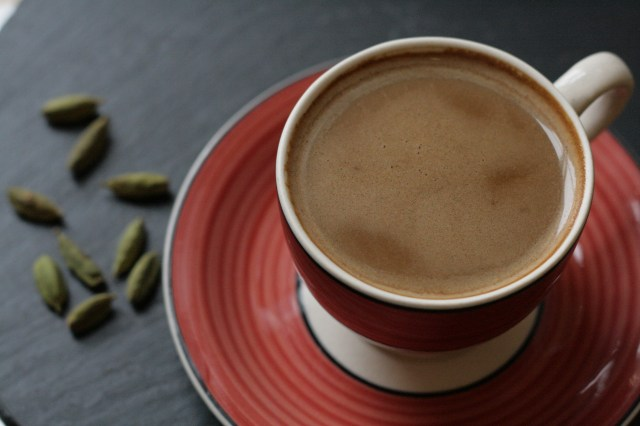Velchi (cardamom infused) coffee