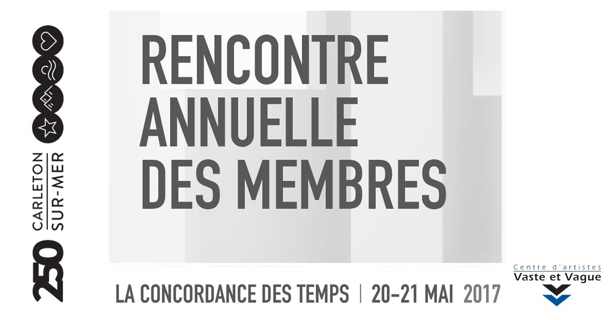 AGA et Rencontre annuelle des membres Vaste et Vague 2017