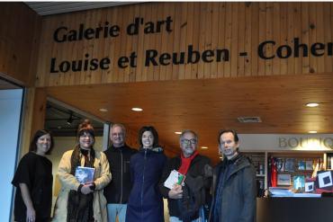 Galerie Louise et Reuben Cohen de l'Université de Moncton   Sur la photo : Nisk Imbault, Louba-Christina Michel, André Lapointe, Nancy Cormier, John Michaud, Yves Gonthier.