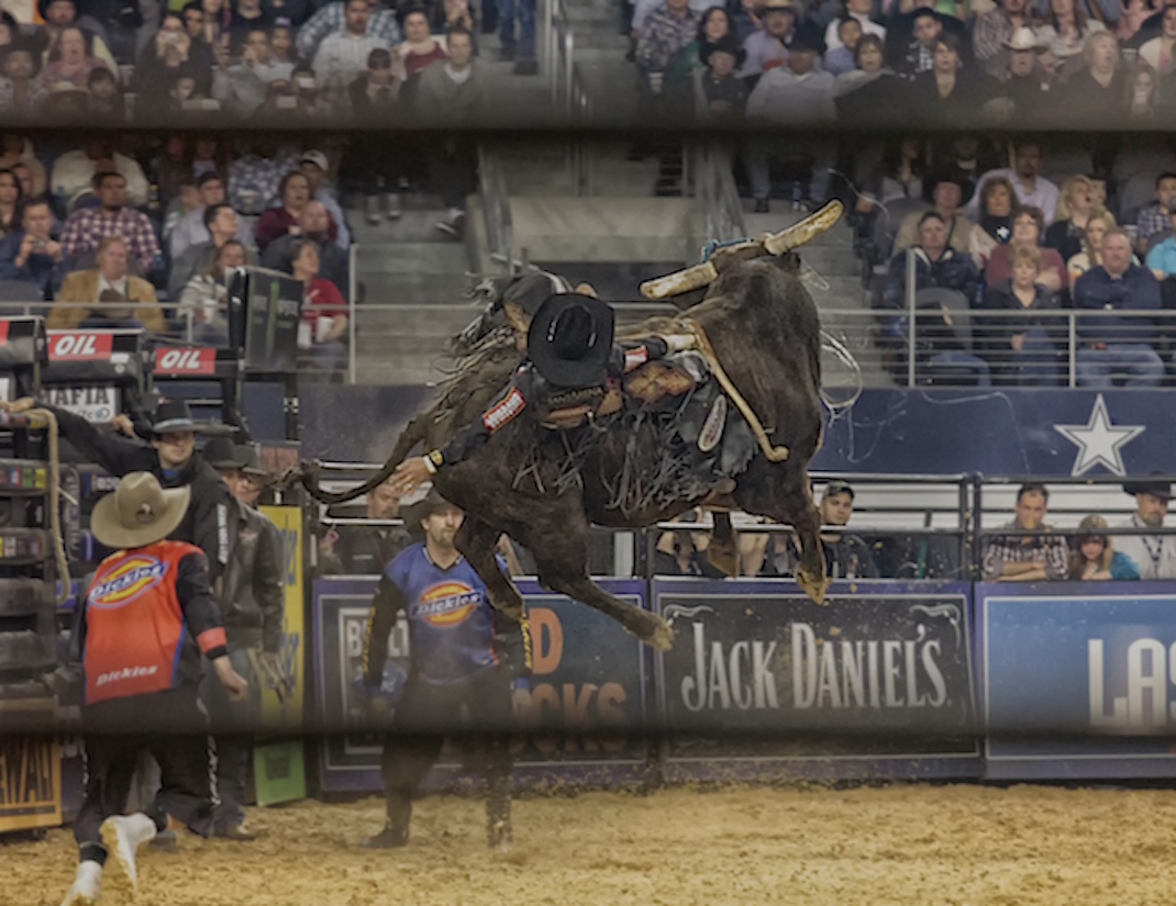 Bushwacker takes flight at the 2013 Iron Cowboy event ... it did not end well!