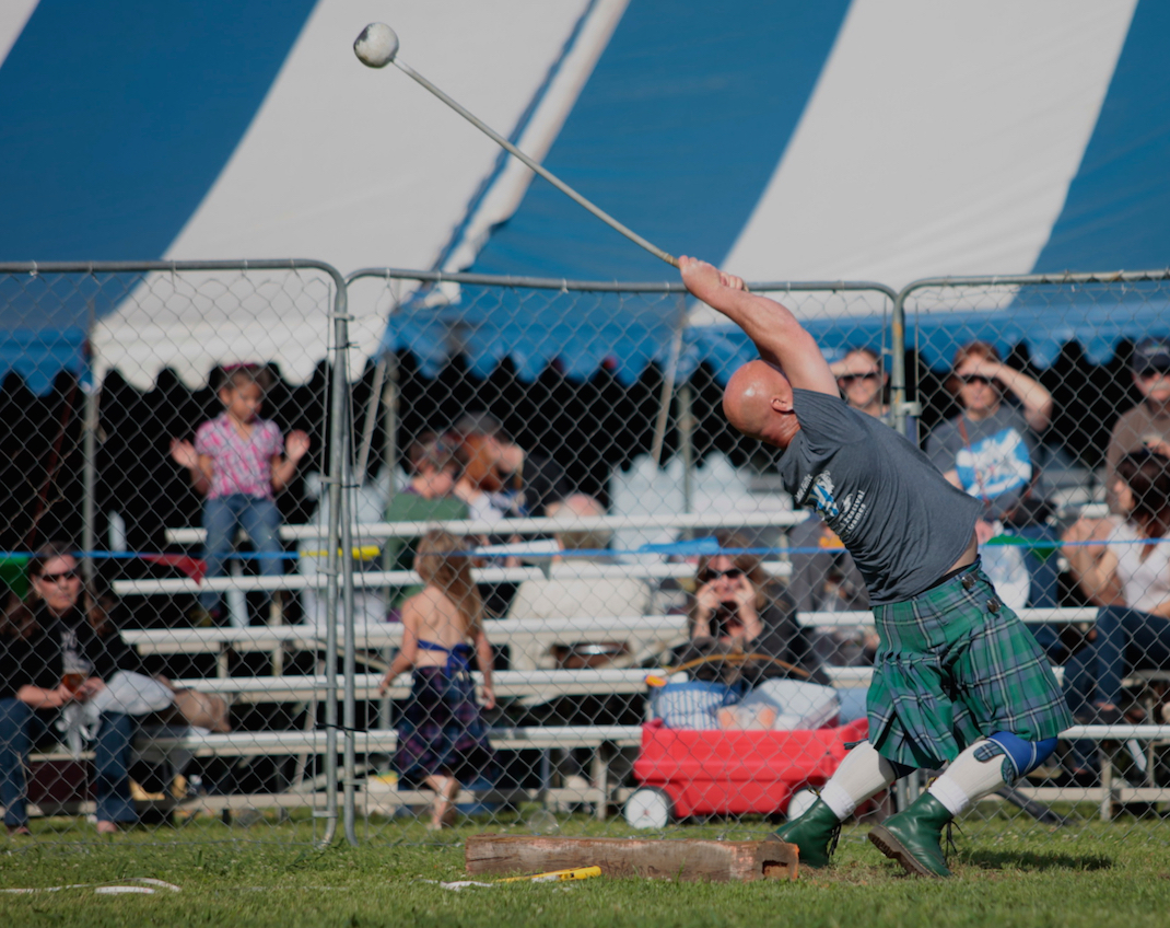 Hammer throw, Scottish Festival, Arlington, Texas