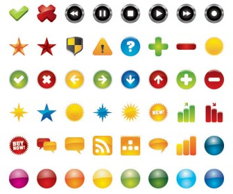 Freebies 48 Web Icons Vector Pack