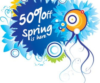 Spring Discount Flower Label