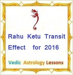 Rahu Ketu Transit Effect for 2016