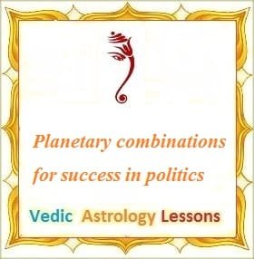 Planetary combinations for success in politics